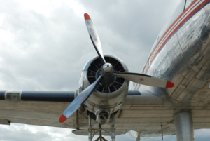 The Douglas DC-3 is a fixed-wing propeller-driven airliner. Its cruise speed and range revolutionized air transport in the 1930s and 1940s.