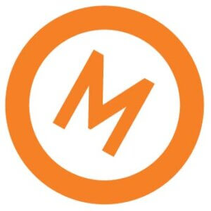 YTM (M) Logo is a capitalized M with a circle around on a slight degree to indicate movement.